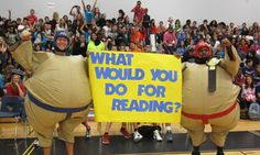Scholastic Book Fair's What Would You Do for Reading campaign encourages principals and other school leaders to perform a wacky stunt as a reward for students meeting their reading goals.