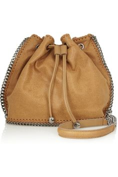 Stella McCartney | The Falabella faux brushed-leather bucket bag | NET-A-PORTER.COM