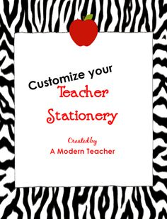 Free Teacher Stationery--mini-pack--when you need a thank you note in a hurry