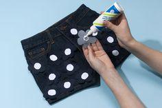 How to Make 3-D Floral Denim Shorts