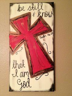 canvas ideas, bible quotes, psalm 4610, canvas art, hous