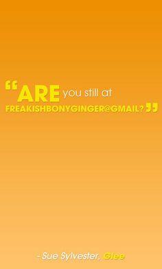 Best Sue Sylvester Jabs: FreakishBonyGinger@gmail?