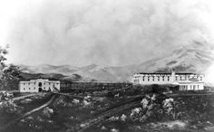 "A view of the San Gabriel Wine Company, ""the largest in the world,"" begun in 1882 at Alhambra,  California, between Los Angeles and San Gabriel."
