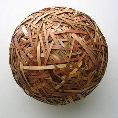 Woven Wood Sphere by Aaron Kramer