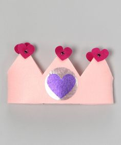 Another great find on #zulily! SuperflyKids Light Pink Heart Crown by SuperflyKids #zulilyfinds