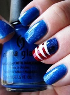 fourth of july, china glaze, nail designs, red white blue, manicur