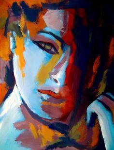 """Helena Wierzbicki; Acrylic, 2012, Painting """"""""Divided"""""""""""