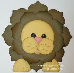 For my mom making kids cards, craft, shaped cards, floral framelit, kids cards stampin up, punch art, framelit lion, lions, kid card