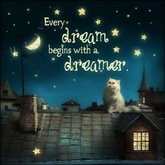 Every dream begins with a dreamer.