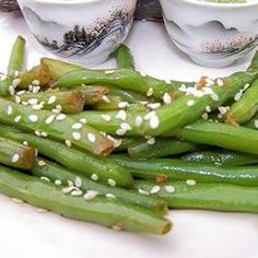 """Quick Sesame Green Beans 