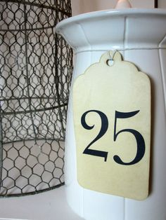 Table Numbers  Wedding Table Numbers  Numbers by PaperBoxStudio, $20.00