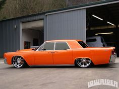 lowrid magazin, 1964 lincoln continental, low rider, phat ride, awesom car, big, hot rod, awesom ride, orang crush