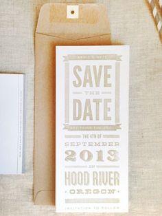 DIY Rubber Stamp Save the Date Ideas via Oh So Beautiful Paper: http://ohsobeautifulpaper.com/2014/04/annie-nates-diy-gold-rubber-stamp-save-dates/   Design + Photo: Annie Carlson #DIY #wedding