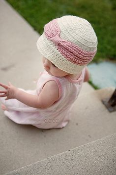 Precious little girl hat from Ravelry