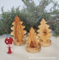 inspiration: Evergreen Trees made from aspen Wood