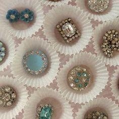 Antique Rhinestone Buttons...love♥♥