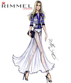 @rimmellondonuk look 2. Inspired by the sheer fabrics and stripes seen at #LFW today!