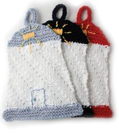 FREE Knit Dishcloth Pattern | Nautical Lighthouse Dishcloth | FREE Pattern available at Joann.com | Supplies available at Joann.com or your local Jo-Ann Fabric and Craft Store