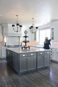 cabinet colors, colored kitchen island, cottag design, cottage design, light