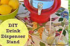 diy drink dispenser stand, drink dispenser stand diy