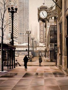Chicago Painting  - Chicago Fine Art Print