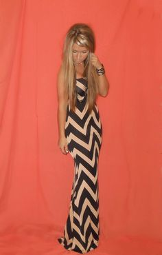 Fitted ZigZag Maxi-BRITTISH BOUTIQUE
