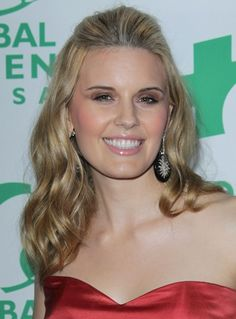 Maggie Grace rocks a front poof hairstyle