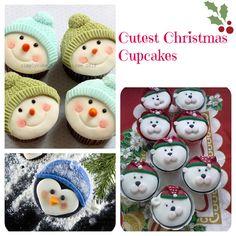 Adorable Snowmen & Penguin  Cupcakes via Baking Beauty
