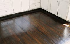 We used 2 coats of minwax jacobean wood stain after its dry well give