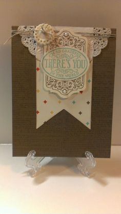 Stampin Up Chalk Talk and Banners framelits
