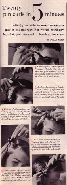 Twenty pin curls in 5 minutes