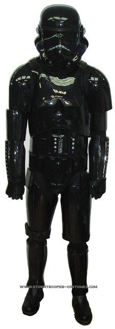 Stormtrooper-costumes.com  StarWars Shadowtrooper Costume in Black Armour - Original Replica - A New Hope