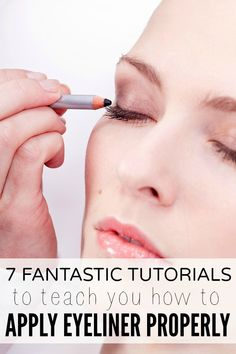 If you're as useless at knowing which kind of eyeliner to purchase, and how to apply it without looking like a cheap raccoon like I am, these 7 fantastic tutorials to teach you how to apply eyeliner properly are just what you need!