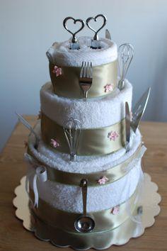 Wedding towel cake!