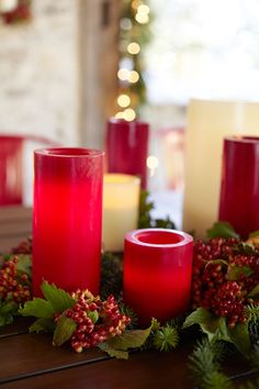 All aglow with holiday spirit - and flameless candles.