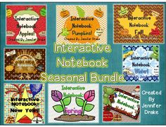 Interactive notebook for seasons and holidays