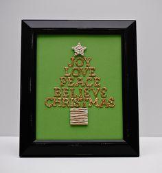 Joy (framed Christmas art) - Two Peas in a Bucket
