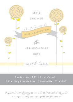 bridal shower invitations, bridal showers