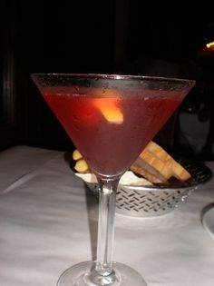 Pomegranate Cosmopolitan Recipe served at Tutto Italia in EPCOT at Disney World