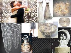 White Starry Night Wedding Theme