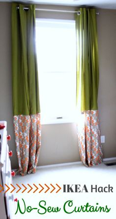Super simple and beautiful no-sew curtains! {IKEA Hack} | Just a Girl and Her Blog