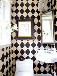 very chic powder room.