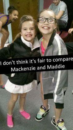 dance moms maddie ziegler and mackenzie ziegler