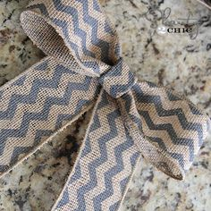 How to make a burlap ribbon bow.