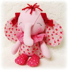 Free Stuffed Animal Patterns | Elephant Softie ... by Oh Sew Dollin | Sewing Pattern