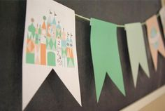 palm, birthday parti, its a small world party, it's a small world party, parties, kiddo parti, banner idea, disney, banners