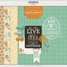 Authentic mini kit freebie from Sweet Caroline Studio