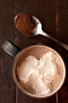 Nutella Hot Chocolate with Hazelnut Liqueur Recipe - Saveur.com  #drinks #cocktails #drinkrecipes