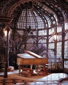 Steampunk Tendencies | The Study Set from the Haunted Mansion. http://www.steampunktendencies.com/post/82391684074