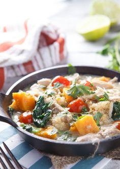 {Slow Cooker} Thai Chicken and Coconut Quinoa Stew